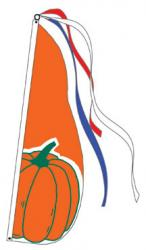 Pumpkin Feather Flag