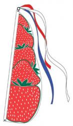 Strawberry Feather Flag (Item# P13STR)