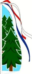 Christmas Tree Feather Flag