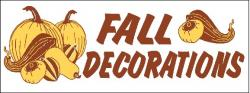 Fall Decorations Banner Digital