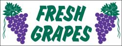 Fresh Grapes Banner Heavy Duty