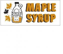 Maple Syrup Banner (Item# P8SYRPMAPHD)