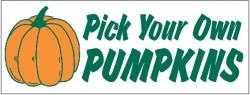 Pick Your Own Pumpkin Banner Digital