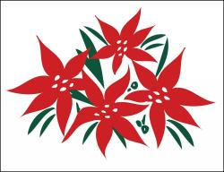 Poinsettias Poly Marketeer
