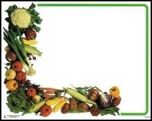 Vegetable Cornucopia Price Card (Item# P671VEG7)